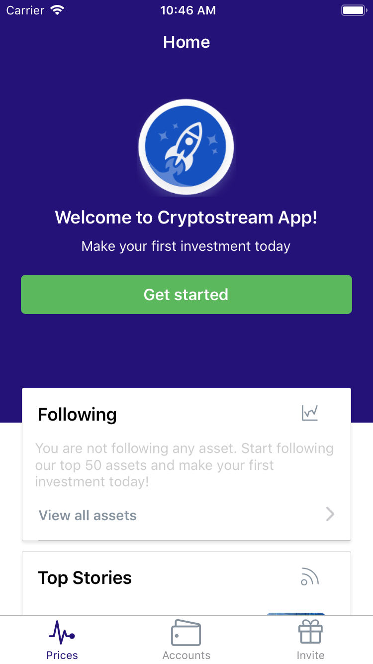 React Native Crypto Stream App Theme