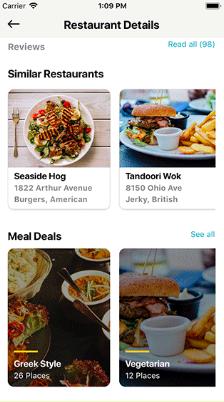 React Native Restaurant UI