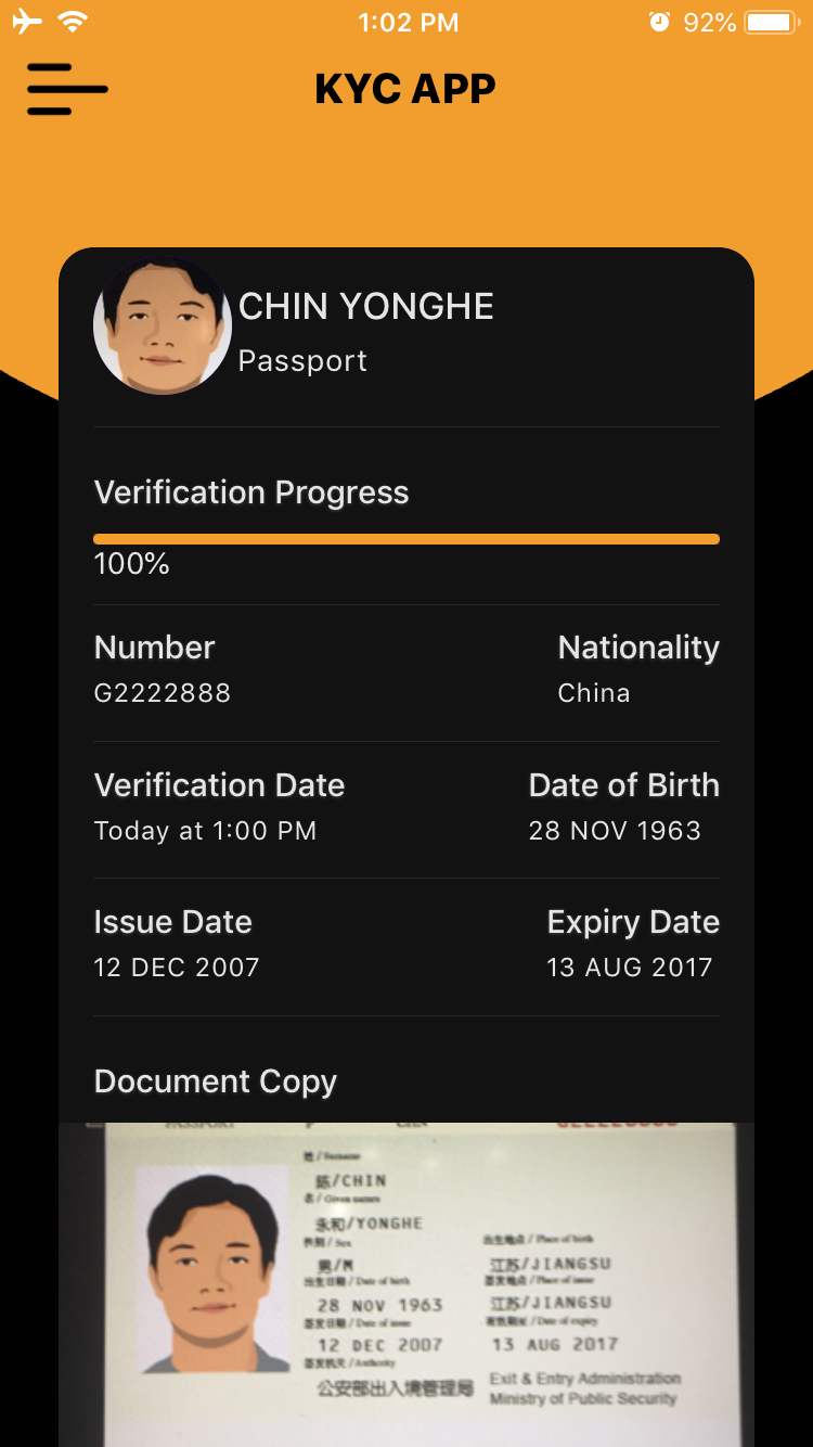 React Native KYC App